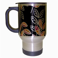 Winter Beautiful Foliage  Travel Mug (silver Gray) by DanaeStudio