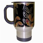 Winter Beautiful Foliage  Travel Mug (Silver Gray)