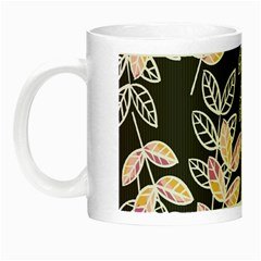 Winter Beautiful Foliage  Night Luminous Mugs by DanaeStudio