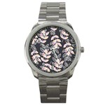 Winter Beautiful Foliage  Sport Metal Watch Front