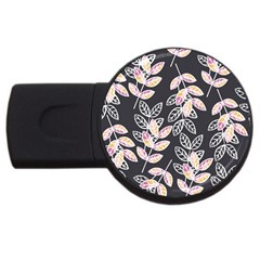 Winter Beautiful Foliage  USB Flash Drive Round (4 GB)