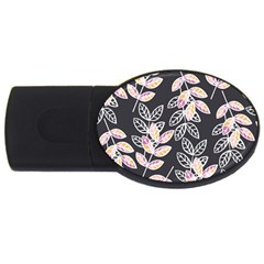 Winter Beautiful Foliage  Usb Flash Drive Oval (4 Gb)  by DanaeStudio