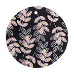 Winter Beautiful Foliage  Round Ornament (Two Sides)  Front