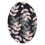 Winter Beautiful Foliage  Oval Ornament (Two Sides) Back