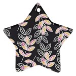 Winter Beautiful Foliage  Star Ornament (Two Sides)  Front