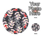 Winter Beautiful Foliage  Playing Cards 54 (Round)  Front - Heart9