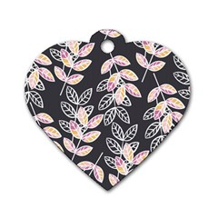 Winter Beautiful Foliage  Dog Tag Heart (One Side)