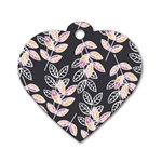 Winter Beautiful Foliage  Dog Tag Heart (Two Sides)