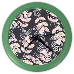 Winter Beautiful Foliage  Color Wall Clocks by DanaeStudio