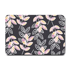Winter Beautiful Foliage  Small Doormat  by DanaeStudio