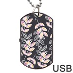 Winter Beautiful Foliage  Dog Tag USB Flash (One Side)