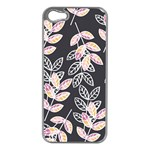 Winter Beautiful Foliage  Apple iPhone 5 Case (Silver)
