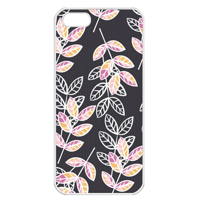 Winter Beautiful Foliage  Apple iPhone 5 Seamless Case (White)