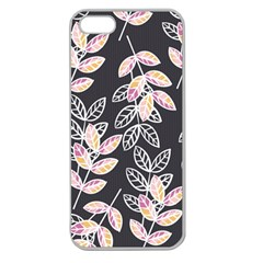Winter Beautiful Foliage  Apple Seamless Iphone 5 Case (clear) by DanaeStudio