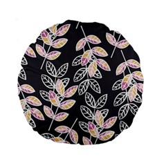 Winter Beautiful Foliage  Standard 15  Premium Round Cushions by DanaeStudio