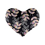 Winter Beautiful Foliage  Standard 16  Premium Heart Shape Cushions