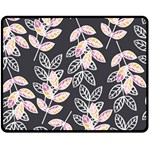 Winter Beautiful Foliage  Double Sided Fleece Blanket (Medium)