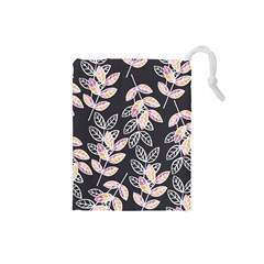Winter Beautiful Foliage  Drawstring Pouches (Small)
