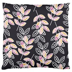 Winter Beautiful Foliage  Large Flano Cushion Case (Two Sides)