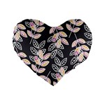 Winter Beautiful Foliage  Standard 16  Premium Flano Heart Shape Cushions