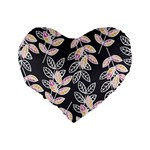 Winter Beautiful Foliage  Standard 16  Premium Flano Heart Shape Cushions Back