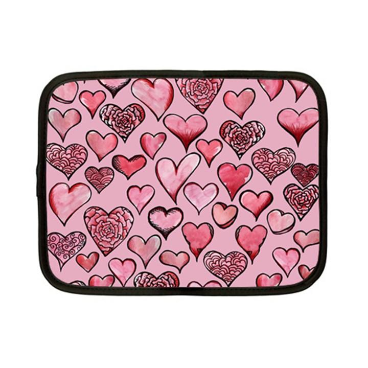 Artistic Valentine Hearts Netbook Case (Small)
