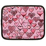 Artistic Valentine Hearts Netbook Case (Large)