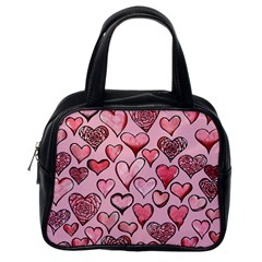 Artistic Valentine Hearts Classic Handbags (one Side) by BubbSnugg