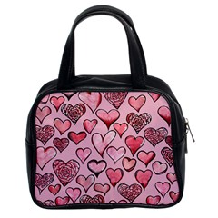Artistic Valentine Hearts Classic Handbags (2 Sides) by BubbSnugg