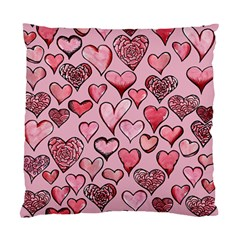 Artistic Valentine Hearts Standard Cushion Case (two Sides) by BubbSnugg
