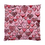Artistic Valentine Hearts Standard Cushion Case (Two Sides)