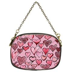 Artistic Valentine Hearts Chain Purses (two Sides)