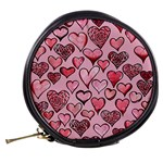 Artistic Valentine Hearts Mini Makeup Bags Back