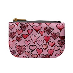 Artistic Valentine Hearts Mini Coin Purses by BubbSnugg