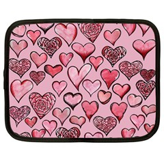 Artistic Valentine Hearts Netbook Case (xl)  by BubbSnugg