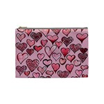 Artistic Valentine Hearts Cosmetic Bag (Medium)
