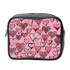 Artistic Valentine Hearts Mini Toiletries Bag 2 Side by BubbSnugg
