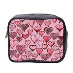 Artistic Valentine Hearts Mini Toiletries Bag 2-Side