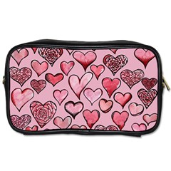 Artistic Valentine Hearts Toiletries Bags 2 Side by BubbSnugg