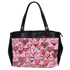 Artistic Valentine Hearts Office Handbags (2 Sides)  by BubbSnugg
