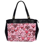 Artistic Valentine Hearts Office Handbags (2 Sides)