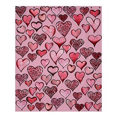 Artistic Valentine Hearts Shower Curtain 60  X 72  (medium)  by BubbSnugg