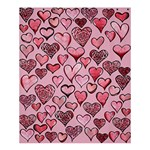 Artistic Valentine Hearts Shower Curtain 60  x 72  (Medium)