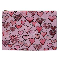 Artistic Valentine Hearts Cosmetic Bag (xxl)  by BubbSnugg