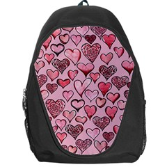 Artistic Valentine Hearts Backpack Bag by BubbSnugg