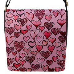 Artistic Valentine Hearts Flap Messenger Bag (s) by BubbSnugg