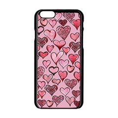 Artistic Valentine Hearts Apple Iphone 6/6s Black Enamel Case by BubbSnugg