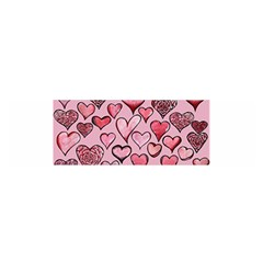 Artistic Valentine Hearts Satin Scarf (oblong) by BubbSnugg