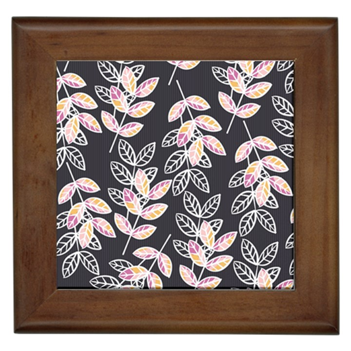 Winter Beautiful Foliage  Framed Tiles