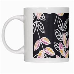 Winter Beautiful Foliage  White Mugs